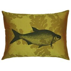 Fish and Seaweed Yellow Silk Cushion   £55   BUY AT THORNBACKANDPEEL.CO.UK (located by e-tailtherapy.com - the best guide to online shopping)