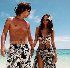 Amazon.co.jp: 水着 ペアルック ビキニ水着 オーバーウェア ビーチパンツ カップル水着 着やせ レディース メンズ用 海水浴 ハワイ 海外旅行DF075H0H0H0: 服&ファッション小物