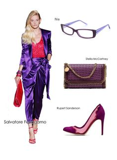 Purple… It is the colour of luxury and passion, of princely robes and papal vestments, dazzling gems and florid prose.#eyewear #eyeglasses #womensfashion