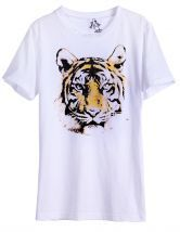 To find out about the White Short Sleeve Tiger Print Loose T-Shirt at SHEIN, part of our latest T-Shirts ready to shop online today! Women's Dresses, Shops, Latest T Shirt, Tiger Print, White Shorts, Hipster, Sleeve, Mens Tops, Chic