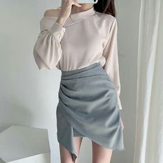 Korean Fashion Pastel, Korean Fashion Dress, Ulzzang Fashion, Kpop Fashion Outfits, Style Outfits, Cute Casual Outfits, Dress Outfits, Girl Outfits, Korean Outfit Street Styles