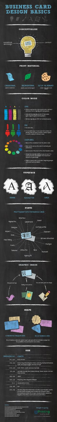 Business Card Design: The Simple And Effective Approach #infographic
