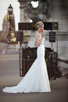 Our team was so inspired by the beauty of Paris during our photo shoots for our Fall 2014 collection. #davidsbridal #fall2014