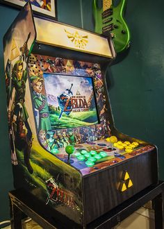 "retrogamingblog: "" Custom Legend of Zelda Arcade Cabinet """