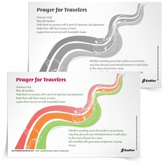 Traveling allows us to experience new sites and sounds. Download a Prayer for Travelers and use it in your parish or home | Sadlier Religion www.WeBelieveandShare.com