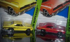 HOT WHEELS WORKSHOP 2- 1974 BRAZILIAN DODGE CHARGER  RED & YELLOW
