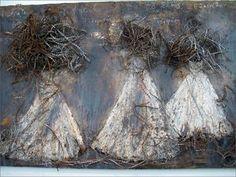 Anselm Kiefer - Les Erinyes 1998 (technique mixte et fil de fer barbelé) Anselm Kiefer, Ages Of Man, A Level Art, Art Moderne, Mark Making, Oeuvre D'art, Mixed Media Art, Painting Inspiration, Les Oeuvres