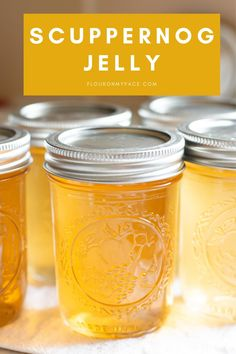 Scuppernog or Muscadine Jelly is a southern treat. This amazing homemade jelly is perfect spread over a warm buttered biscuit. Jelly Recipes, Jam Recipes, Canning Recipes, Muscadine Jelly, Homemade Grape Jelly, Hot Water Bath Canning, Jelly Bag, Canning Labels