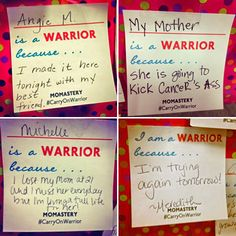The love and energy and joy and connectedness at Momastery is REAL. I saw it all come to life last night. #CarryOnWarrior - See more at: http://momastery.com/blog/2014/04/09/thousand-words/#sthash.hWBUK1y4.dpuf
