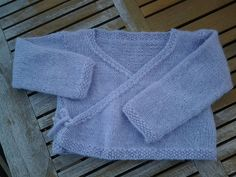 This wrapped kimono sweater is sweet and stylish. (Lion Brand Yarn)