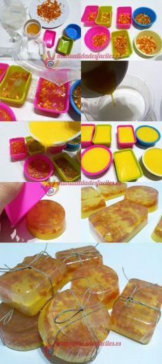 Como hacer de jabon de glicerina y naranja