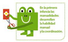 En la primera infancia las manualidades desarrollan la habilidad manual y la coordinación.