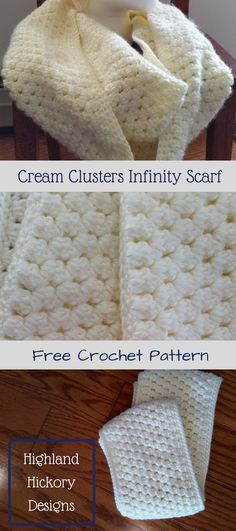 There is matching messy bun/ponytail hat pattern that is also free. See other ideas and pictures from the category menu…. Faneks healthy and active life ideas Crochet Saco, Crochet Scarves, Free Crochet, Crochet Cowls, Crochet Wraps, Crochet Granny, Free Knitting, Crochet Cluster Stitch, Easy Crochet Patterns