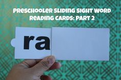 Preschooler Sliding Sight Word Reading Cards: Part 2 #educational #homeschool #homeschooling #kids #learn #learning #learntoread #preschooler #read #reading #sightwords #teach #teaching #toddler #words