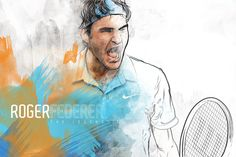 Roger Federer by Genios/Sao Paulo, Brazil.
