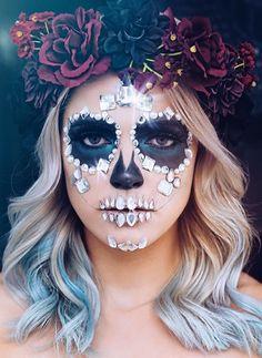 halloween boo adult halloween diy costumes costume ideas halloween costumes sugar skull makeup sugar skulls fantasy makeup face makeup