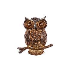 #brooch #bronz brooch #owl brooch #handmade brooch #design by darlring jewelry