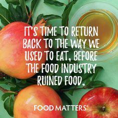 Real food #foodmatters www.foodmatters.com