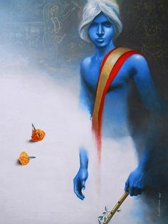 Sudipta Kundu   Krishna III   24″ x 30″
