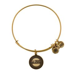 Alpha Chi Omega Charm Bracelet   Alex and Ani (in gold)