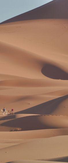 ここで感動的な砂漠の朝日観賞。  Erg Chebbi, Merzouga, Morocco.