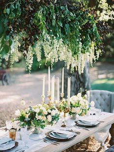 Hanging flowers, crystal chandeliers, and lush floral details with a palette of bright pink, white, and powder blue for a sophisticated botanical wedding! Botanical Wedding, Floral Wedding, Wedding Flowers, Rustic Wedding, Wedding Arches, Wedding Black, Green Wedding, Elegant Wedding, Perfect Wedding