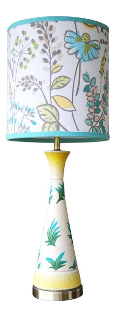 Vintage F.A.I.P. Tropical Chalkware Lamp on Chairish.com