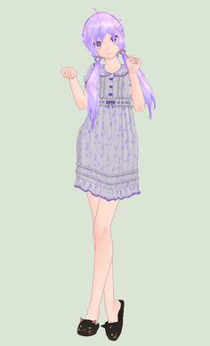 [MMD] Nightgown Yukari Download! by piegirl333