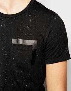 Image 3 of Jack & Jones Fleck T-Shirt with Rubberised Pocket Print