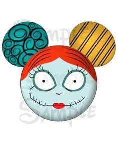 Sally (Nightmare Before Christmas) inspired DIGITAL printable Mickey head file DIY on Etsy, $3.00