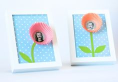 Cupcake Flower Picture Frames | Munchkins and Mayhem