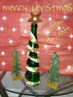 Merry Christmas from J. B. Craft: cut glass bottle tree.