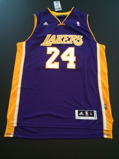 Kobe Bryant Jersey Los Angeles Lakers #24 Purple Size XL Stitched NWT #LosAngelesLakers