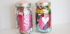 Craft kit in a jar - great for kiddo gifts