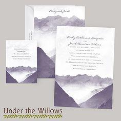 Mountain Mist - Invitation | Invitations By Dawn