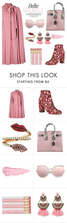 """""""belle of the ball"""" by pensivepeacock ❤ liked on Polyvore featuring Valentino, Aquazzura, Delfina Delettrez, Yves Saint Laurent, By Terry and Elizabeth Cole"""