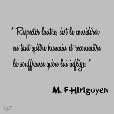 respect, M.F Hirigoyen