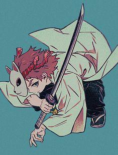 Kimetsu no Yaiba Sabito Anime Demon, Manga Anime, Anime Art, Demon Slayer, Slayer Anime, Mein Crush, Chibi, Hotarubi No Mori, Gekkan Shoujo