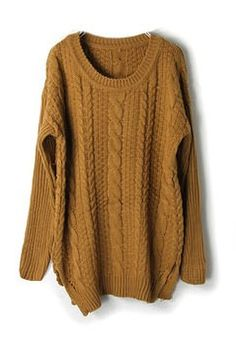 camel cable knit.