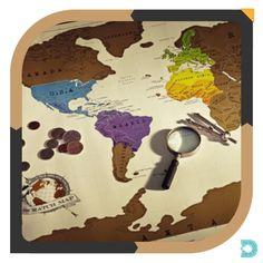 Para os viajantes de plantão, chegou o Mapa Mundi Raspadinha.  Raspe os lugares no mundo em que você esteve e registre o histórico de todas as suas viagens. - - www.uvdecor.com.br @uvdecor2017 - - #uvdecor #presentes #presentescriativos #shoppingonline #mundocriativo #criatividade #decorando #decoracao #decor #decoracaocriativa #decoracaodeinteriores #reforma #nerd #instageek #geekbrasil #geek #promocao Nerd, House, Home Decor, Creative Decor, Creativity, Worldmap, Creative Gifts, Interior Decorating, Viajes