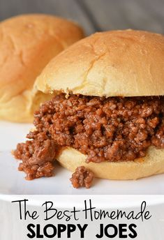 The Best Homemade Sloppy Joe Recipe I had a very busy day and I needed something fast to make for dinner since Best Homemade Sloppy Joe Recipe, Homemade Sloppy Joes, Sloppy Joes Recipe, Mccormick Sloppy Joe Recipe, Gluten Free Sloppy Joe Recipe, Sloppy Joe Recipe Crock Pot, Slow Cooker Sloppy Joes, Meat Recipes, Crockpot Recipes
