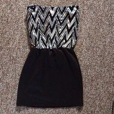 Dress Sequin black and silver DEB dress Deb Dresses Mini