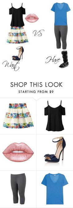 """""""What I want to wear vs What I am wearing"""" by better-not on Polyvore featuring Lime Crime, Little Mistress, Tek Gear, Splendid and plus size clothing"""