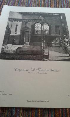 St Ursula's Dream by Carpaccio by MarysCuriosityStore on Etsy Famous Pictures, Ursula, Saints, Etsy, Art, Santos, Kunst, Art Education, Artworks