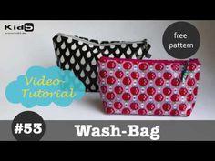 Kosmetiktasche nähen | kostenloses Schnittmuster - YouTube