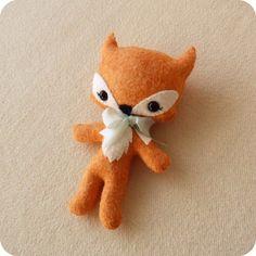 Fox pdf Pattern Plush Pattern Needlecraft Pattern by Gingermelon Animal Sewing Patterns, Stuffed Animal Patterns, Making Jewelry For Beginners, Plush Pattern, Fox Pattern, Sewing Toys, Plush Dolls, Felt Dolls, Felt Crafts