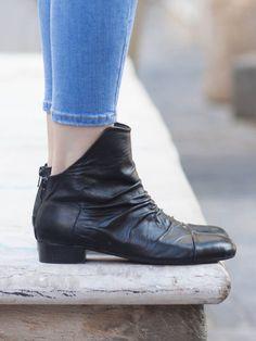 Cuero botas botines de cuero zapatos hechos a mano por BangiShop