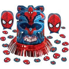 Marvels the Amazing Spiderman Birthday Party Favor Table Centerpiece Decoration Kit *** Find out more about the great product at the image link.(It is Amazon affiliate link) #florida