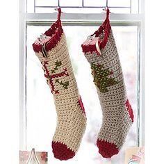 Ravelry: Cross Stitch Stockings (super bulky) pattern by Bernat Design Studio