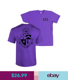 T-Shirts Delta Tau Delta Fraternity Bella + Canvas Shirt Delts Coat Of Arms More Colors #ebay #Fashion